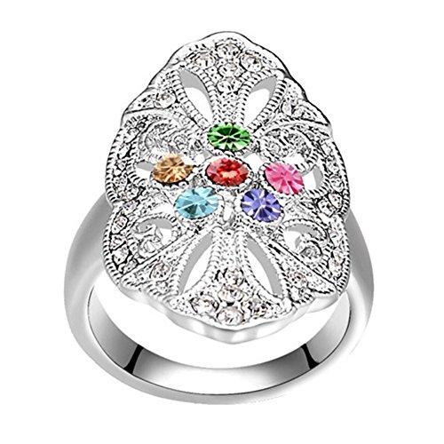 "RI96043C1-9 New Style ""Heaven"" Austrian Crystal Alloy Ring"