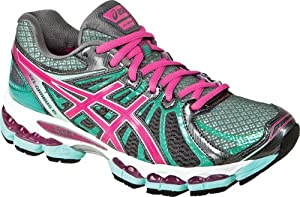 ASICS Women's GEL-Nimbus 15 Running Shoe,Titanium/Hot Pink/Mint,8 M US