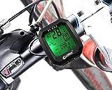 (Global Item) サイクリング ツーリングに 有線式 多機能 サイクルコンピューター スピードメーター 日本語説明書 結束バンド付き!823型