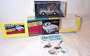 corgi toys 50th anniversary james bond goldfinger aston martin DB5 car with working features 1.43 scale diecast model