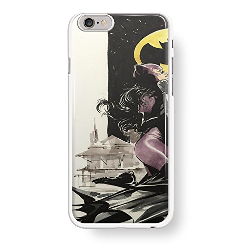 Batman and Catwoman Couple love Left for iPhone 6/6s White case