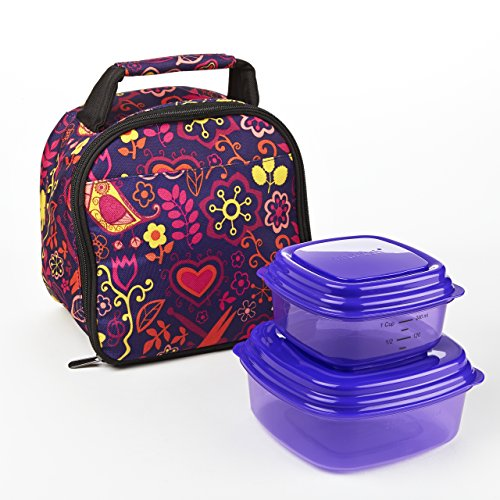 Kids' Gabby Lunch Bag Kit with Sandwich & Side Containers (Woodstock) - 1