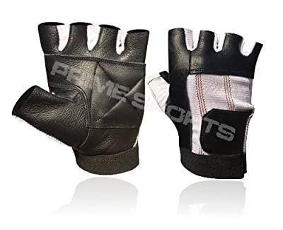 Weight Lifting Padded Body Building Wheel Chair Training Gym Leather Gloves Black/white Small (s) from Prime Leather