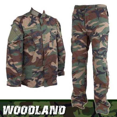 アメリカ陸軍 Woodland BDU 迷彩戦闘服 上下セット (ウッドランド) S