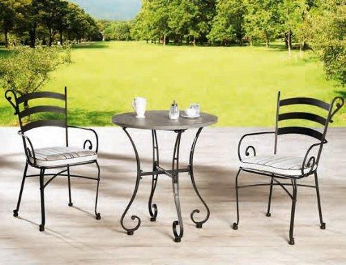 gartenset metall set stuhl rundtisch balkonset terrasse tischgruppe schwarz g nstig kaufen. Black Bedroom Furniture Sets. Home Design Ideas