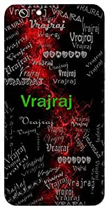 Vrajraj (Lord Krishna) Name & Sign Printed All over customize & Personalized!! Protective back cover for your Smart Phone : Samsung Galaxy S6 Edge