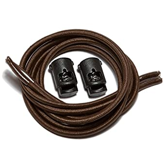 "Speedlaces iBungee Stretch Laces with Race Locks - 26"" - Brown"