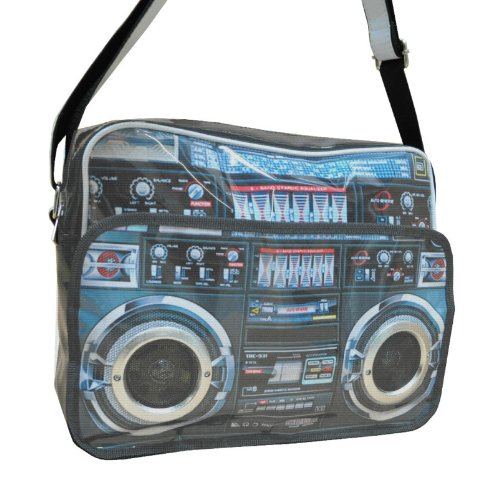 Ghetto Blaster Boom Box Postman Bag - great quality and limited edition - cool unisex design