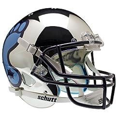 NORTH CAROLINA TAR HEELS Schutt AiR XP Full-Size REPLICA Football Helmet UNC (CHROME) by ON-FIELD