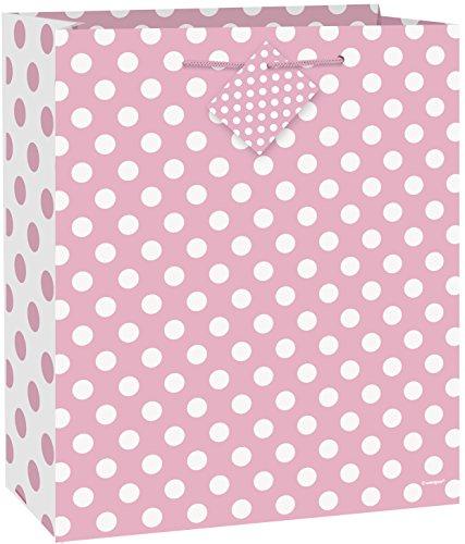 Large Light Pink Polka Dot Gift Bag