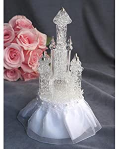 Amazon Wedding Cake Toppers Cinderella Glass Castle Wedding Cake Topper Kitchen Amp Dining