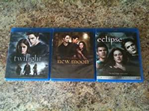 Twilight Trilogy Blu ray set (first 3 movies) Twilight, New Moon & Eclipse