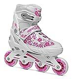 [ロチェス]ROCES COMPY GIRL S(17-18.5cm) white-violet インラインスケート キッズ ジュニア 子ども 用 国内正規代理店品