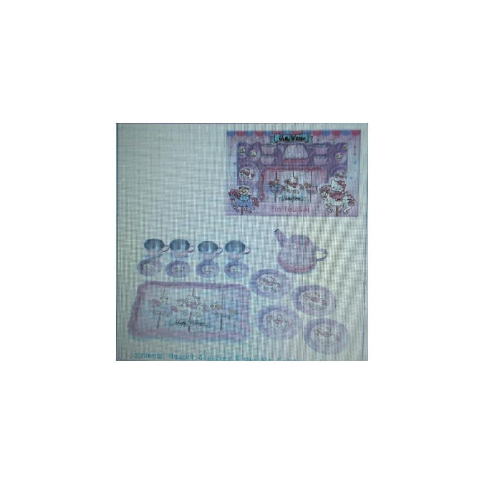 Japanese Sanrio Hello Kitty Tin Tea Set Carousel Toys