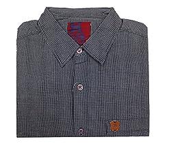 Spykar Casual Greyish Black Checkered Shirt(Size:L)