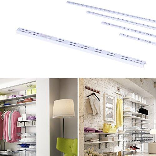 Premium Regalsystem Wandregal Wandleiste Wandschiene für Regalträger aus Stahl 50cm weiß
