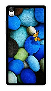 """Humor Gang Butterfly On Rocks Printed Designer Mobile Back Cover For """"OnePlus X"""" (2D, Glossy, Premium Quality Snap On Case)"""