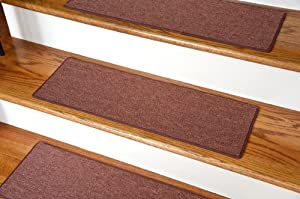 """Carpet Stair Treads 23"""" x 8"""" - Copper - Set of 13"""