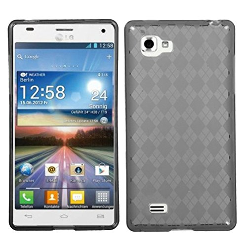 MyBat Argyle Candy Skin Cover for LG P880 (Optimus 4X HD) - Retail Packaging - Smoke (Lg 4x Hd Case compare prices)