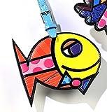 Romero Britto Fish Luggage Tag