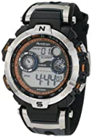 Armitron Men's 408231ORBK Chronograph Black and Gray Resin Digital Sport Watch from Armitron