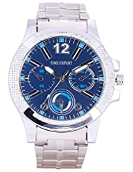 Time Expert Analogue Blue Dial Men's Watch - TE100334