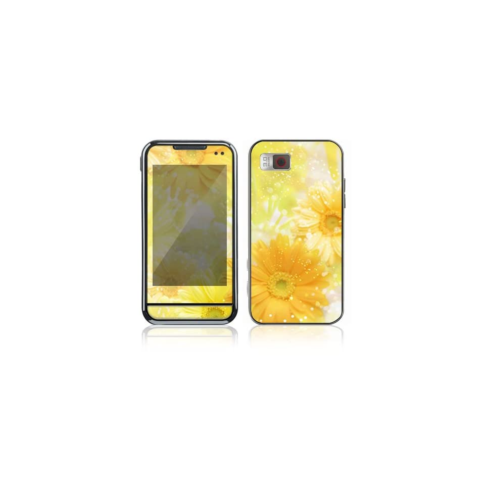 Yellow Flowers Decorative Skin Cover Decal Sticker for Samsung Eternity SGH A867 Cell Phone