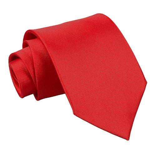 New Plain Satin Men's Tie (Crimson Red)