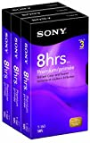 Sony 3T160VR 160-Minute VHS - 3 Pack