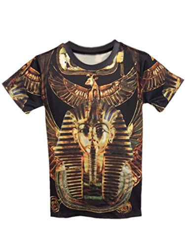 Easy Mens Cool Fashion Pharaoh of Egypt shirt 3D Pattern Short-Sleeve Shirt