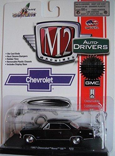 M2 MACHINES AUTO-DRIVERS 1:64 SCALE BLACK 1967 CHEVROLET NOVA SS DIE-CAST