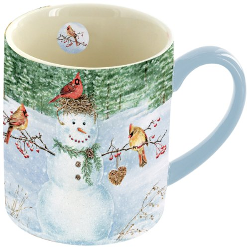 Lang Happy Snowman Mug, 14-Ounce
