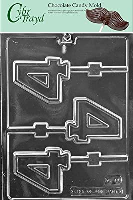 Cybrtrayd L049 No. 4 Lolly Chocolate Candy Mold, No. 4 with Exclusive Cybrtrayd Copyrighted Chocolate Molding Instructions