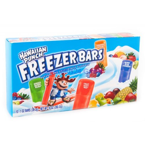 Freezer Bars Assorted - Flavored Freezer Bars, 10 bars,(Hawaiian Punch)