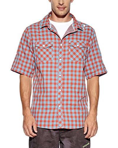 Chiemsee Camicia Uomo Eoban Slim Fit Rosso/Blu S