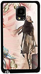 PrintVisa Travel Girl Colorful Case Cover for Samsung Galaxy Note Edge