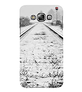 PrintVisa Travel Tracks Snow Design 3D Hard Polycarbonate Designer Back Case Cover for Samsung Galaxy E7