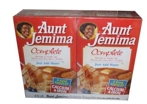 Aunt Jemima Deluxe Complete Pancake And Waffle Mix Two 5 Pound Boxes