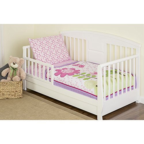 Dream On Me 4 Piece Toddler Bedding Set, Spring Garden