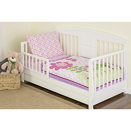 Dream On Me 4 Piece Toddler Bedding Set, Spring Garden - 1