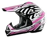 Vega Viper Kraze Graphic Junior Off-Road Helmet (Pink, Large)