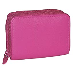 Buxton RFID Identity Safe Wallet - Prevent Electronic Credit Card Scan Theft- Hot Pink