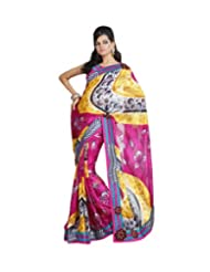 Triveni Casual Printed Saree With Unstitch Blouse - 11009