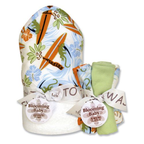 Trend Lab Trend Lab Surfs Up Wash Bouquet and Hooded Towel Set, Multi, Cotton