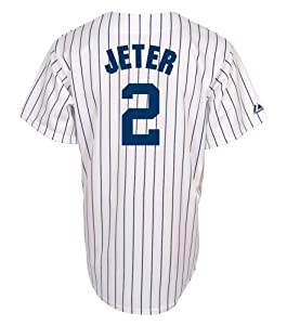 MLB Derek Jeter New York Yankees Youth Replica Home Jersey (White,Medium)
