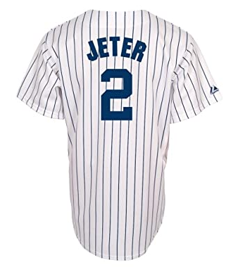MLB New York Yankees Derek Jeter Pinstripes Baseball Jersey Spring 2012 Mens by Majestic