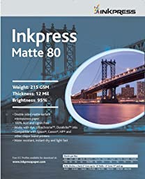 Inkpress Heavyweight Inkjet Duo Matte 80 Paper 11x17 50 Sheets
