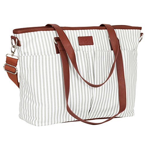 Diaper Bag by Hip Cub - Designer Messenger - W/ Stylish Stripe Baby Changing Pad (Diaper Bag With Changing Pad compare prices)