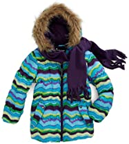 Rothschild Girls Novelty Print Snowsuit Jacket with Scarf - Eggplant (Size 4T)