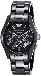 Armani Chronograph Black Dial Mens Watch - AR1400